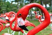 Flamingos staty — Stockfoto