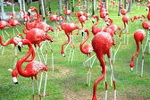 Red flamingos statue — Foto de Stock