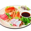 Japanese Cuisine , salmon with sauce  — Stock Photo