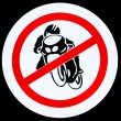 No motorcycle sign — Stock Photo