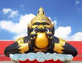 Geleneksel tayland dev heykeli — Stok fotoğraf