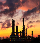 Oil refinery at sunrise — Stock Photo