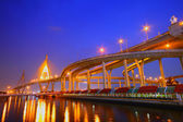 Bhumibol or mega bridge — Stockfoto
