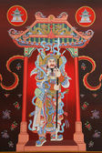 Tradition Chinese painting on door in Chinese temple — Stock Photo