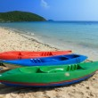 Colorful boats on the beach — Stock Photo