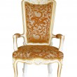 Vintage luxury armchair, clipping path — Stock Photo #33129111
