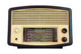 Vintage radio isolated — Stock Photo