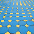 Octagon brick floor tile — Stock Photo