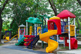 Playground in puplic park — Stock Photo