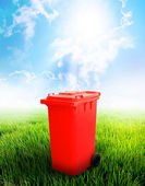 Red Recycle Bin — Stock Photo