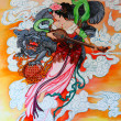 Tradition Chinese painting on wall — Stock Photo #33218971