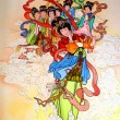 Tradition Chinese painting on wall — Stock Photo #33219501