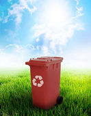 Brown Recycle Bin — Stock Photo