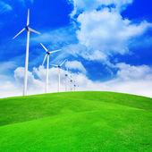Éoliennes produisant de l'électricité — Photo