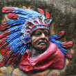 American indian head totem — Stock Photo