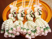 Thai garland, for thai wedding ceremony. — Stock Photo