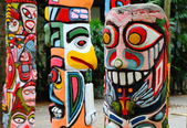 Colorful totem — Stock Photo