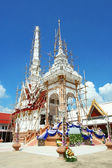 Traditional Thai crematory in temple. — Stock Photo