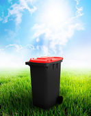 Black And Red Recycle Bin — Stock Photo
