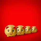 Fourth chinese saving piggy — Stock Photo
