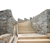 Old stone staircase isolated, clipping path — Stok fotoğraf