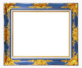 Blue louise photo frame, clipping path — Stock Photo