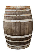 Old wood barrel isolated with clipping path — Stock Photo