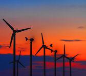 Wind turbine power generator at twilight. — Stock Photo
