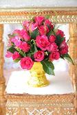 Thai flower on golden tray — Stock Photo