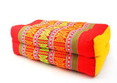 Tradition native Thai style rectangle pillow isolated — Stock Photo