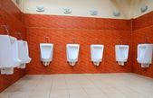 Porcelain urinals — Stock Photo