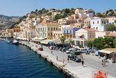 Greece. Promenade on the island of Symi. — Stock Photo