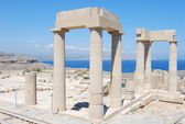 Greece.The Acropolis in Lindos — Stock Photo