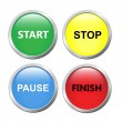 Set of buttons — Stock Vector #12247444