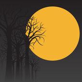 Tarjeta de halloween vector — Vector de stock