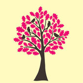 Abstract tree oak tree — Stock Vector