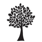 Black oak tree — Vector de stock