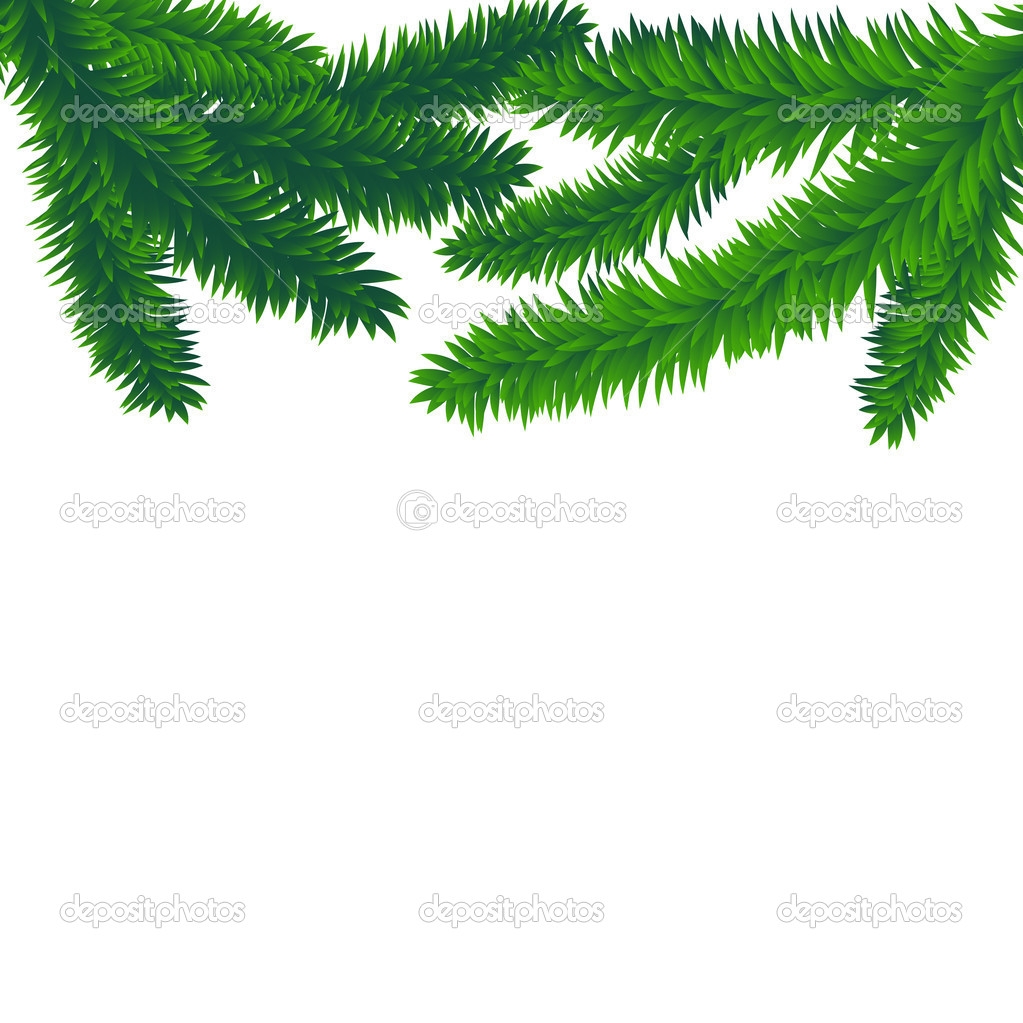 Fir branches, vector christmas background with space for text  — Stock Vector #13582859