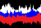 Russische vlag — Stockvector
