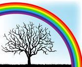 Tree and rainbow vecor — Stock Vector