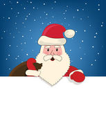 Santa Claus with a bag of presents — Stock Vector