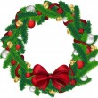 Christmas wreath — Stock Vector #17426333
