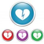 Broken hearts — Stock Vector #18479695