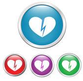 Broken hearts — Stock Vector