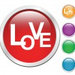 Love Button — Stock Vector