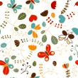 Seamless flower pattern — ストックベクター #18772933