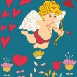 Valentines day  card — Vettoriale Stock  #18816901