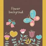 carte de voeux avec fleurs — Vecteur
