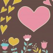 Vector de stock : Greeting card with heart
