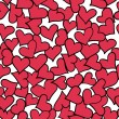 Seamless pattern of red hearts. — Stock Vector #18939087